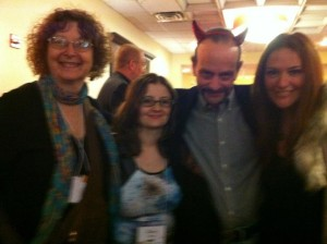 Me with the lovely Mary K. Greer, Dan Pelletier, and Sasha Graham, photo by Helena Aislin