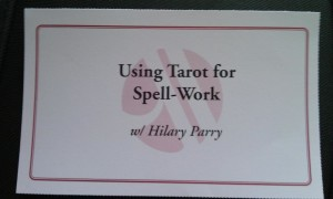 Who, me? A teacher of tarot AND spells? Nah. ;)