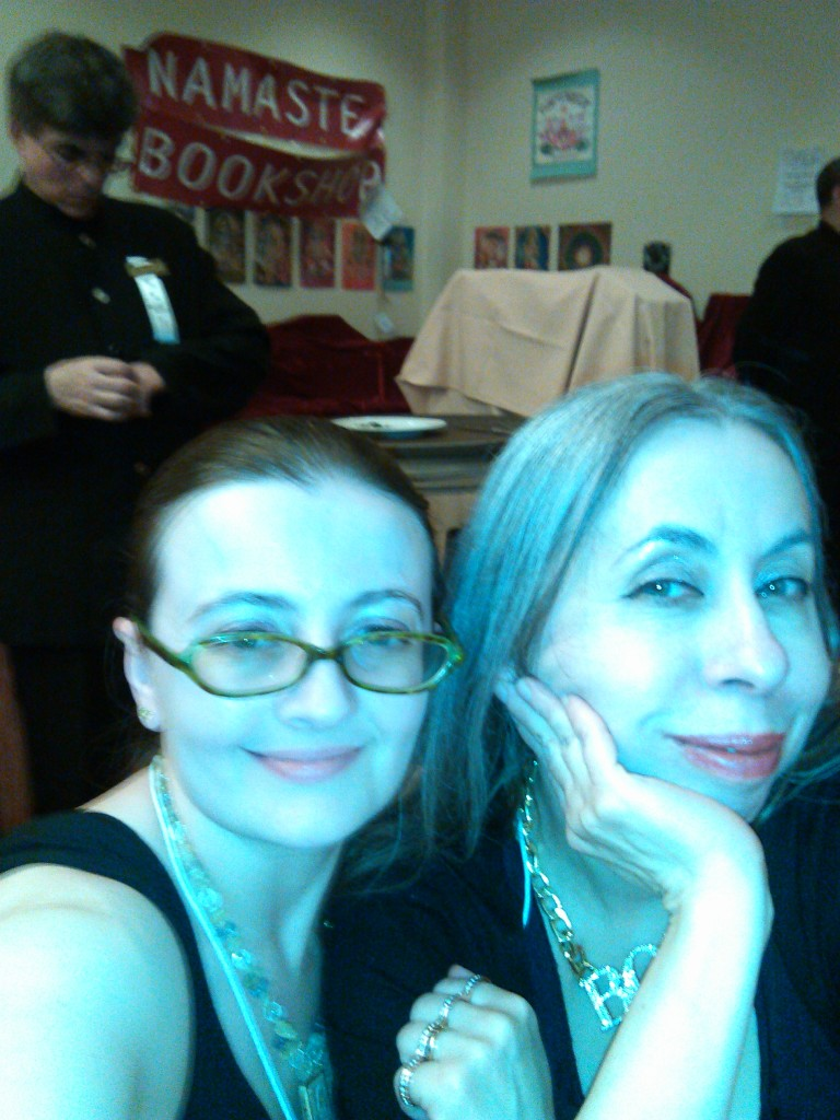 Tarot thugs represent! Me and Theresa Reed, sitting pretty at the banquet dinner of Readers Studio (and clearly up to no good)!