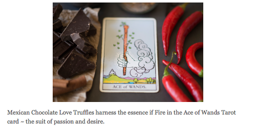 Deliciously incorporating the tarot into a cooking spell...